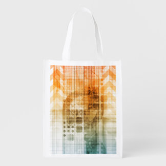 Pharmaceutical Industry with Science Research Reusable Grocery Bags