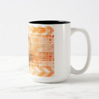 Pharmaceutical Industry with Science Research Two-Tone Coffee Mug