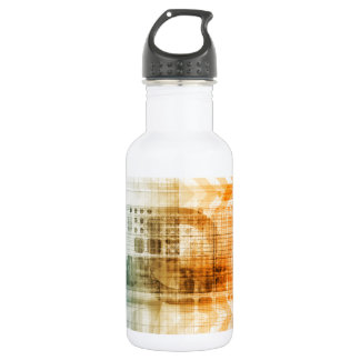 Pharmaceutical Industry with Science Research Water Bottle