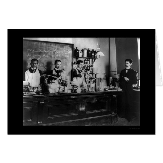 Pharmaceutical Lab at Howard University 1900 Card