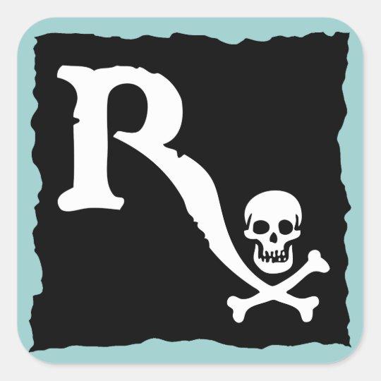 Pharmaceutical Pirate II Square Sticker