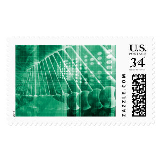 Pharmaceutical Research Data As a Science Art Stamp
