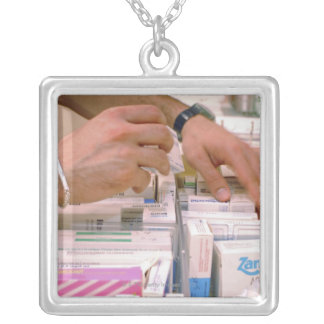 Pharmacist 2 silver plated necklace