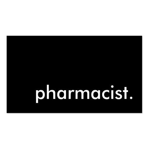 pharmacist. business card