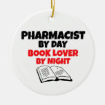 Pharmacist by Day Book Lover by Night Double-Sided Ceramic Round Christmas Ornament