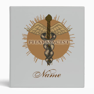 Pharmacist Caduceus 3 Ring Binder