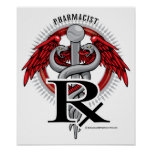 Pharmacist Caduceus Poster