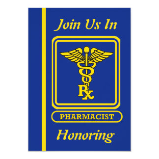 Pharmacist Caduceus Retirement Invitation
