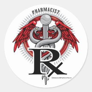 Pharmacist Caduceus Stickers