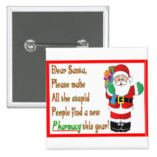 Pharmacist Christmas Cards & Gifts 2 Inch Square Button