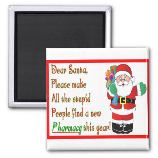 Pharmacist Christmas Cards & Gifts 2 Inch Square Magnet