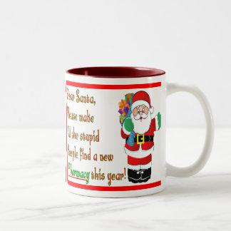 Pharmacist Christmas Cards & Gifts Two-Tone Coffee Mug