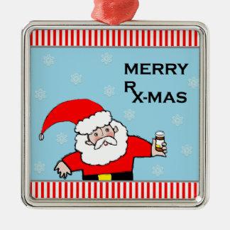 pharmacist christmas metal ornament