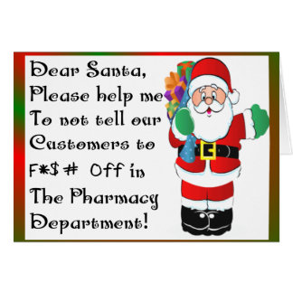 Pharmacist Christmas Themed Gifts Card