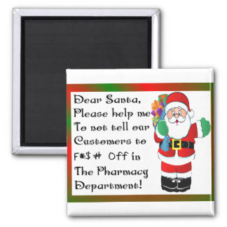 Pharmacist Christmas Themed Gifts Magnet