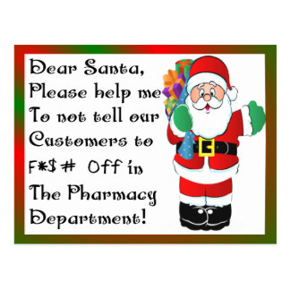 Pharmacist Christmas Themed Gifts Postcard