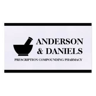 Pharmacist Compounding Pharmacy Mortar Pestle Double-Sided Standard Business Cards (Pack Of 100)