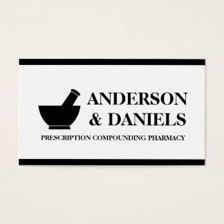 Pharmacist Compounding Pharmacy Mortar Pestle Business Card