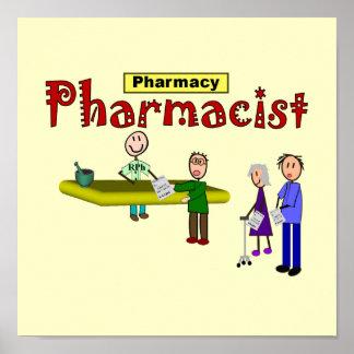 Pharmacist Customers Design Art Print--Frameable Poster