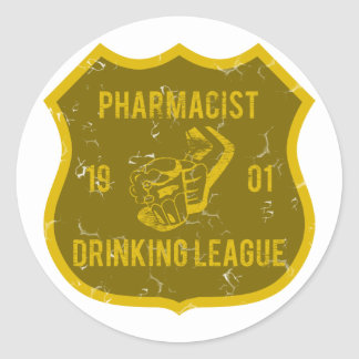 Pharmacist Drinking League Classic Round Sticker