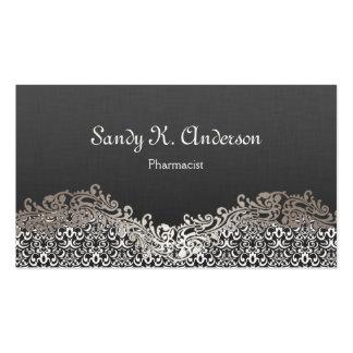 Pharmacist - Elegant Damask Lace Business Card