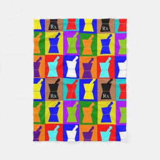 Pharmacist Fleece Blanket Pop Art Design