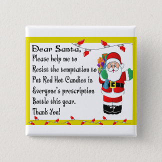 Pharmacist Funny Christmas Themed Gifts Button