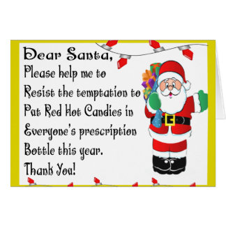 Pharmacist Funny Christmas Themed Gifts Card