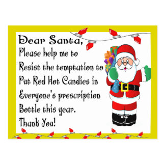 Pharmacist Funny Christmas Themed Gifts Postcard