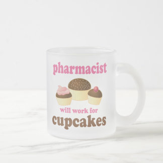 Pharmacist (Funny) Gift Frosted Glass Coffee Mug