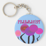 Pharmacist Gifts Artsy Trees Design Keychains
