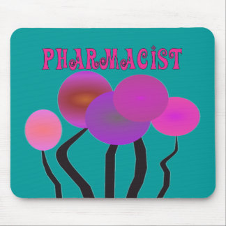 Pharmacist Gifts Artsy Trees Design Mouse Pad