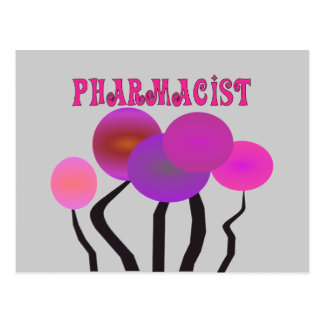 Pharmacist Gifts Artsy Trees Design Postcard