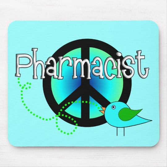 Pharmacist Gifts---Peace Sign Design Mouse Pad