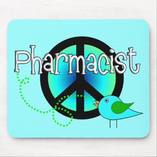 Pharmacist Gifts---Peace Sign Design Mousepads