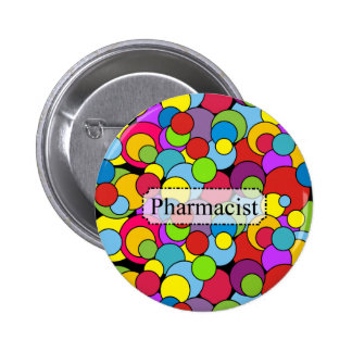 Pharmacist Gifts Whimsical Bubbles Button