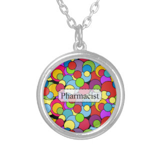 Pharmacist Gifts Whimsical Bubbles Silver Plated Necklace