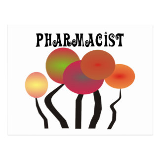 Pharmacist Gifts  Whimsical Trees Design Postcard