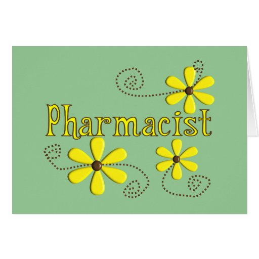 Pharmacist Gifts, Yellow Daisies Greeting Card
