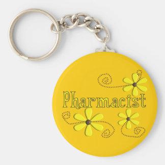 Pharmacist Gifts, Yellow Daisies Keychain