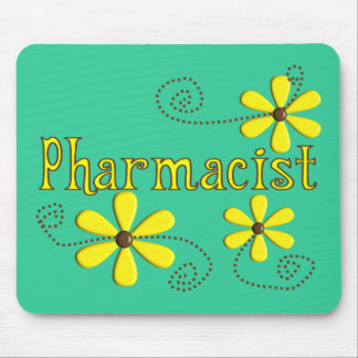 Pharmacist Gifts, Yellow Daisies Mouse Pad