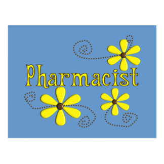 Pharmacist Gifts, Yellow Daisies Postcard