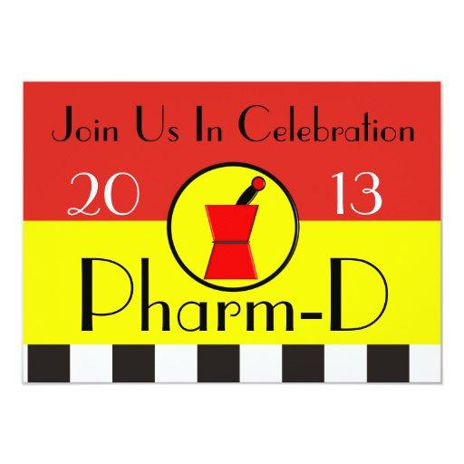 Pharmacist Graduation Invitations 2013