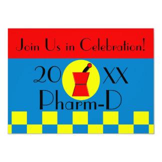 """Pharmacist Graduation Invitations 20XX II 4.5"""" X 6.25"""" Invitation Card"""