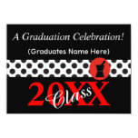 Pharmacist Graduation Invitations Black and Red