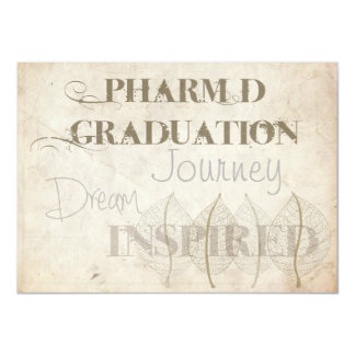 Pharmacist Graduation Invitations Botanical