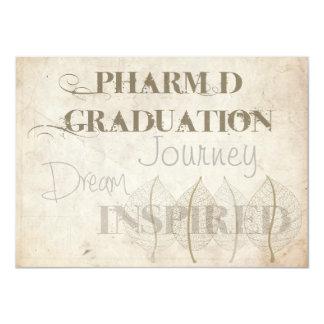 "Pharmacist Graduation Invitations Botanical 4.5"" X 6.25"" Invitation Card"