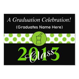 Pharmacist Graduation Invitations Green Black