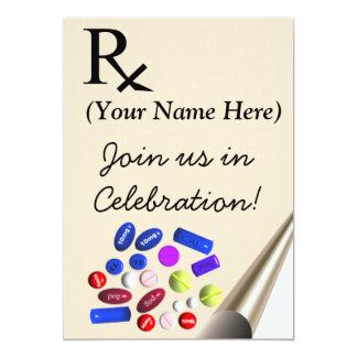 "Pharmacist Graduation Invitations Prescription 5"" X 7"" Invitation Card"