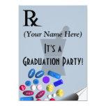 Pharmacist Graduation Invitations Rx Pad Design